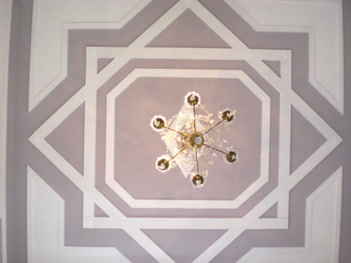Interweaving of tipically oriental ceiling