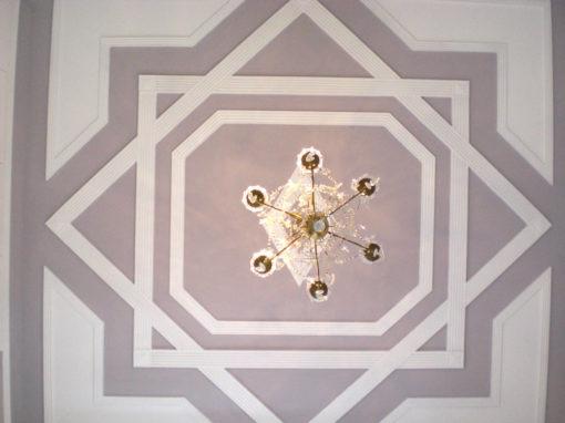 Intreccio di lesene a soffitto tipicamente orientale