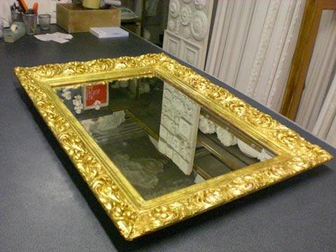 Restauro di una specchiera Luigi XIII