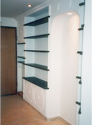 Plaster Bookcase