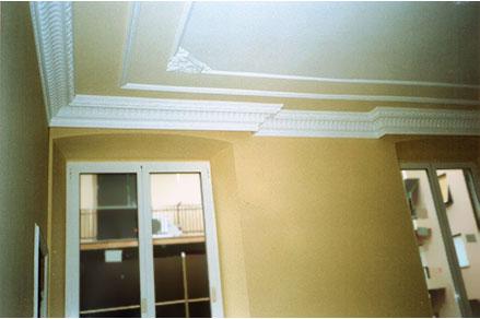 Example of Cover plaster Curtains in Luigi XVI